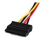 StarTech.com 12in 4 Pin Molex LP4 to 2x Latching SATA Power