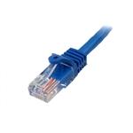StarTech 0.3m UTP Cat 5e RJ45 azul - Cable