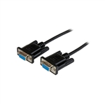 StarTech.com 1m Black DB9 RS232 Serial Null Modem Cable F/F