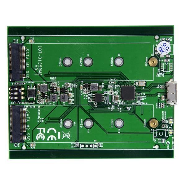 Startech 2 bahías M.2 NGFF USB 3.1 - Caja SSD M.2