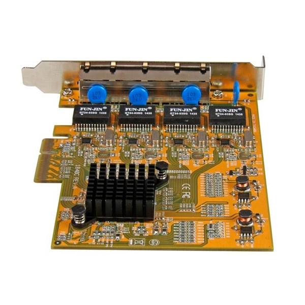 Startech 4 RJ45 GBLAN PECI-E - Tarjeta de red