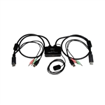 StarTech Switch KVM 2 puertos DisplayPort DP USB Audio - KVM