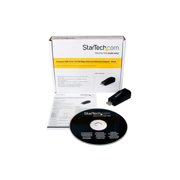StarTechcom Mini Adaptador de Red NIC Ethernet USB de 1 Pue