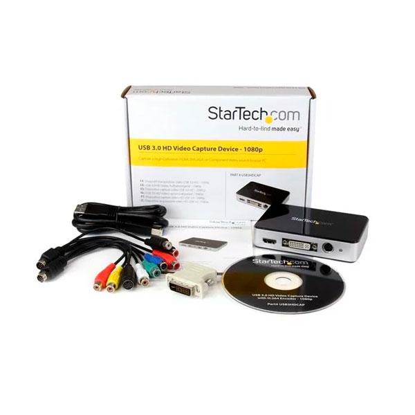 StarTechcom Capturadora de Vídeo USB 30 a HDMI DVI VGA y