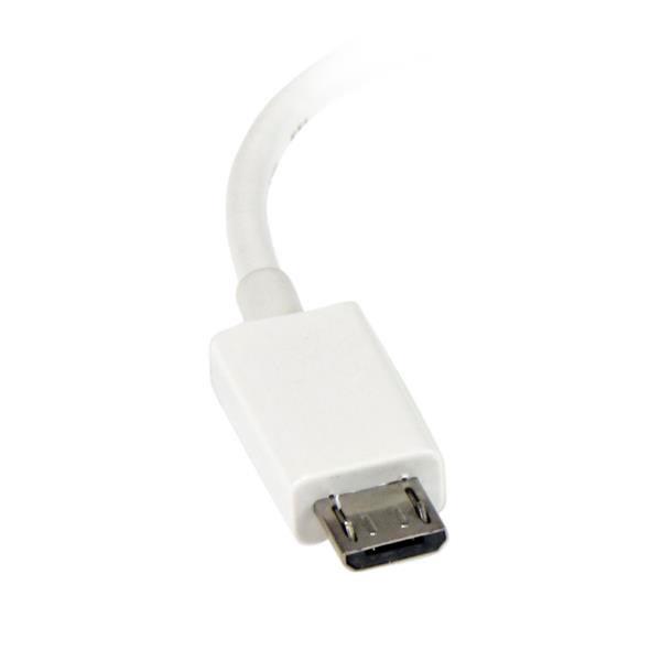 StarTech.com Cable Adaptador Micro USB a USB OTG Blanco de 1