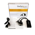 StarTech.com Adaptador VGA a HDMI con audio y alimentación U