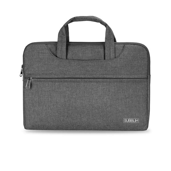 Subblim Business Laptop Sleeve para Porttiles hasta 156 Cinta para Trolley Gris  Maletn