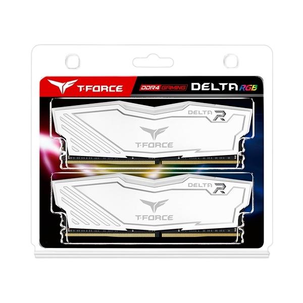 Team Group 32GB 2x16GB 3600MHz Delta White RGB  DDR4