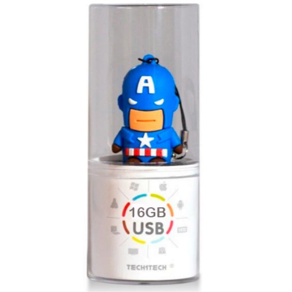 TECH1TECH Capitn Amrica 16GB USB2  PenDrive