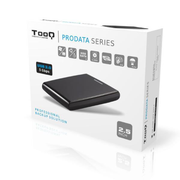 """Tooq TQE-2526B 2.5"""" SATA USB 3.0 12,5MM Negra  - Caja HDD"""