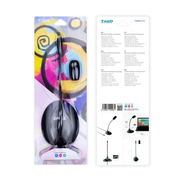 TooQ TQMM213 Negro 35mm Micrófono Flexible