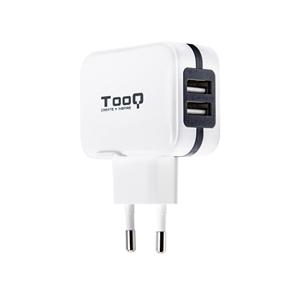TooQ TQWC1S02 2xUSB 5V 34A 17W Blanco  Cargador de Pared