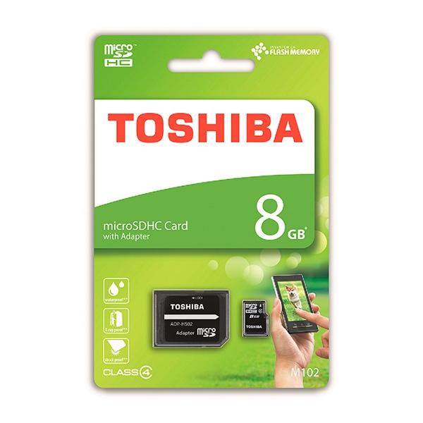 Toshiba High Speed 8GB CL4 c/adap – Tarjeta MicroSD