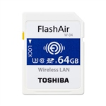 Toshiba FlashAir W-04 64GB 90MB/s WIFI - Tarjeta SD