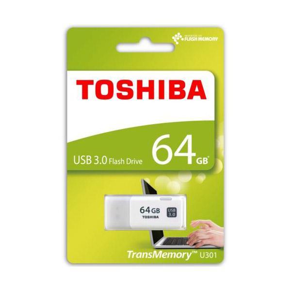 Toshiba TransMemory U301 USB 30 64GB blanca  Pendrive