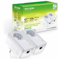 TPLINK TLPA4010PKIT AV500 Powerline Kit with AC Pass Thro