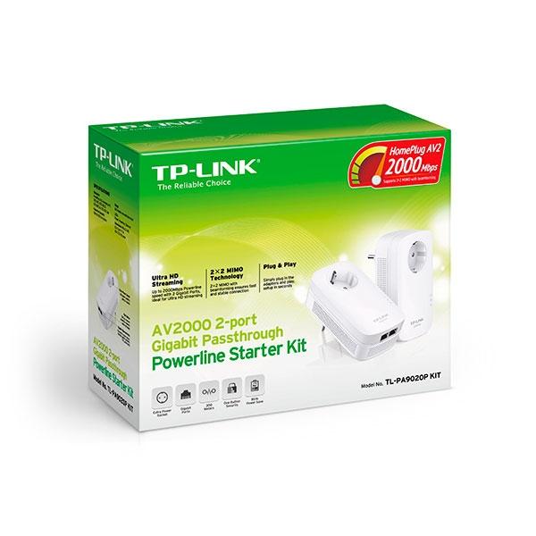 TP-LINK  TL-PA9020P KIT AV2000 con enchufe 2xLan - PLC