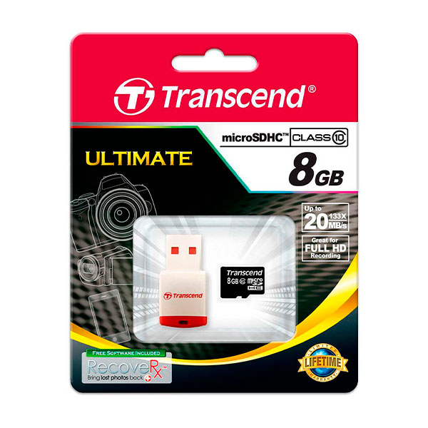 Transcend microSDHC10 + P3 Card Reader