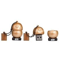 TRIBE 16GB BB-8 Gold USB 2.0 Star Wars TLJ – PenDrive