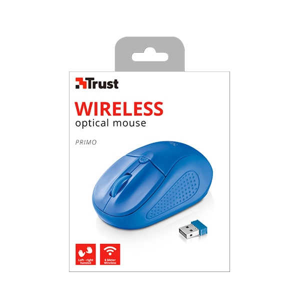 Trust Primo azul wireless - Ratón