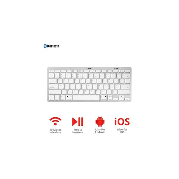 Trust Nado Bluetooth blanco  Teclado