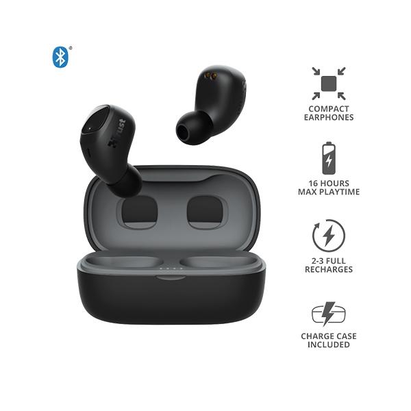 Trust Nika Compact Bluetooth Wireless Negro  Auriculares