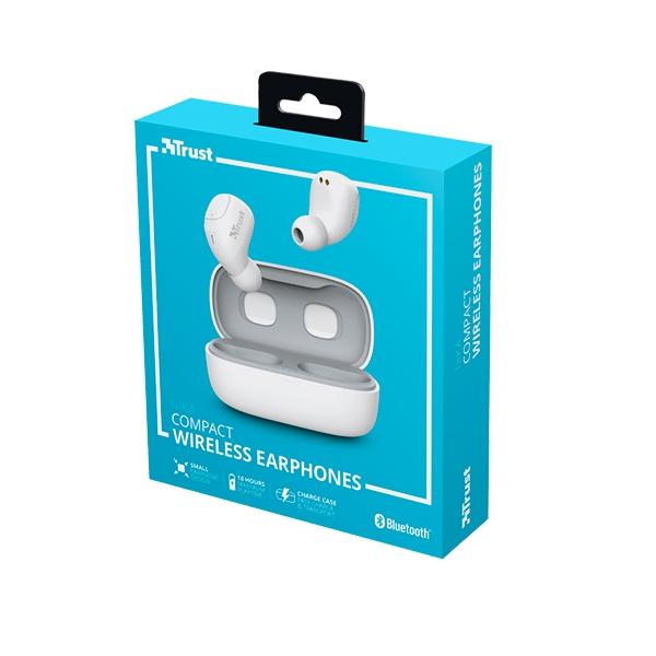 Trust Nika Compact Bluetooth Wireless Blanco Auriculares