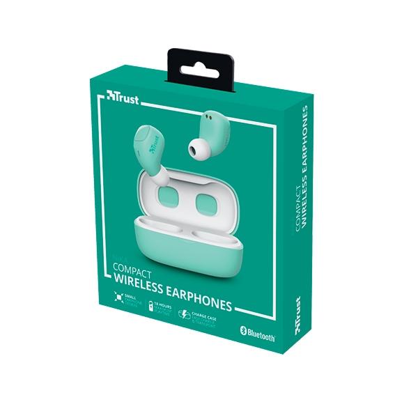 Trust Nika Compact Bluetooth Wireless Turquesa  Auriculares