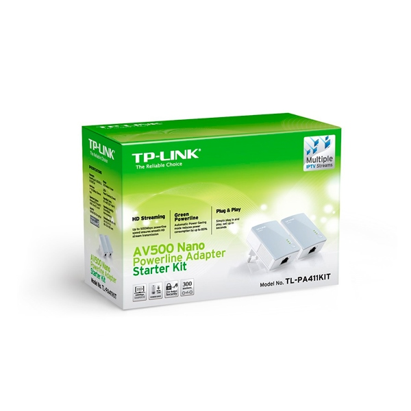 TP-LINK TL-PA411KIT AV500 Nano Powerline - PLC