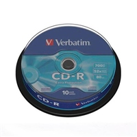 Verbatim – CD-R x 10 – 700 MB eje
