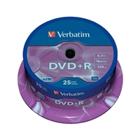 Verbatim DVD+R Pack 25u – 4.7GB – DVD