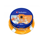 DVDR Verbatim Imprimible 16X Tarrina25uds