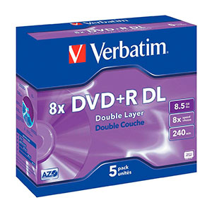 Verbatim DVDR DL Pack 5u5  85 GB  DVD