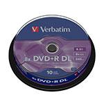 Verbatim DVDR DL Pack 10u  85 GB  DVD