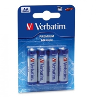 Verbatim Pack de 4 pilas alcalinas AA – Pilas