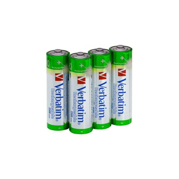 Verbatim 4 pilas recargables Premium AA 2500Mah – Pilas