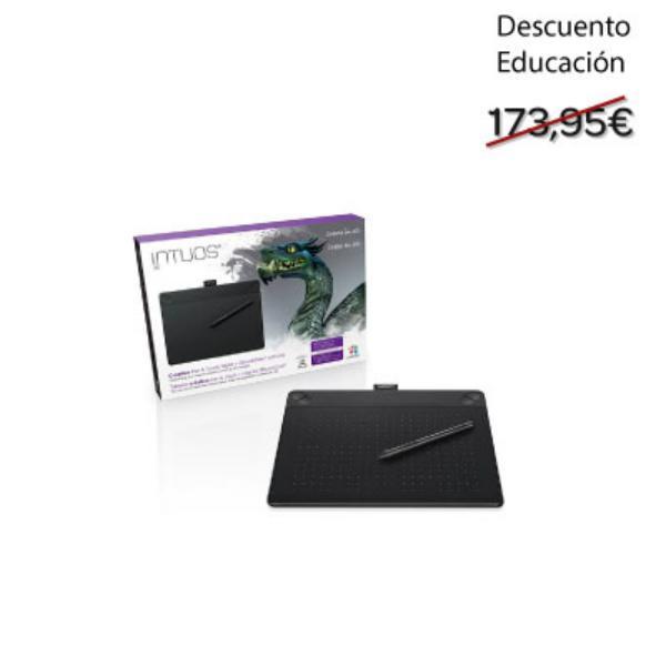 Educacin Wacom Intuos 3D Mediana  Tableta digitalizadora