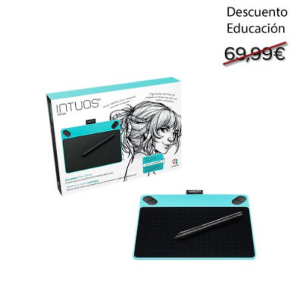 Educación Wacom Intuos Draw blanca – Tableta Digitalizadora
