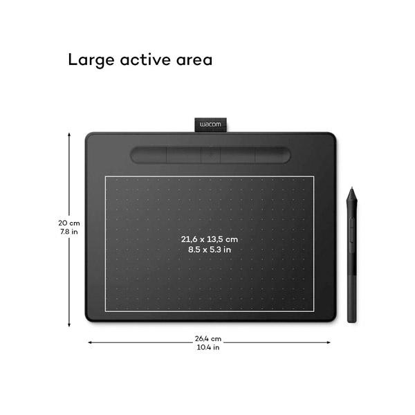 Wacom Intuos Comfort M bt Negra  Tableta digitalizadora