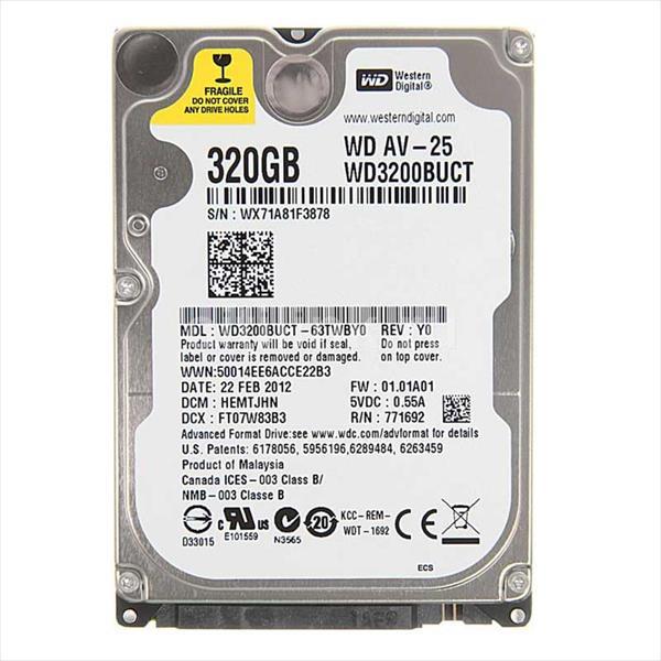 "WD 2.5"" AV-25 320GB 16MB - Disco Duro"