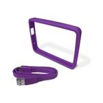 WD GRIP Pack Morado Bumper + Cable USB 3.0 para HDD Externo