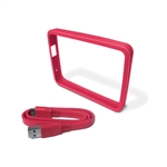WD GRIP Pack Fucsia Bumper  Cable USB 30 para HDD Externo