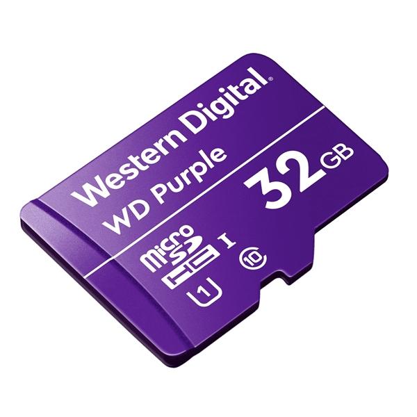 WD Purple 32GB   Tarjeta MicroSD para videovigilancia