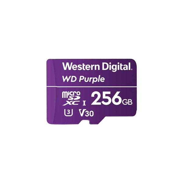 WD Purple 256GB   Tarjeta MicroSD para videovigilancia
