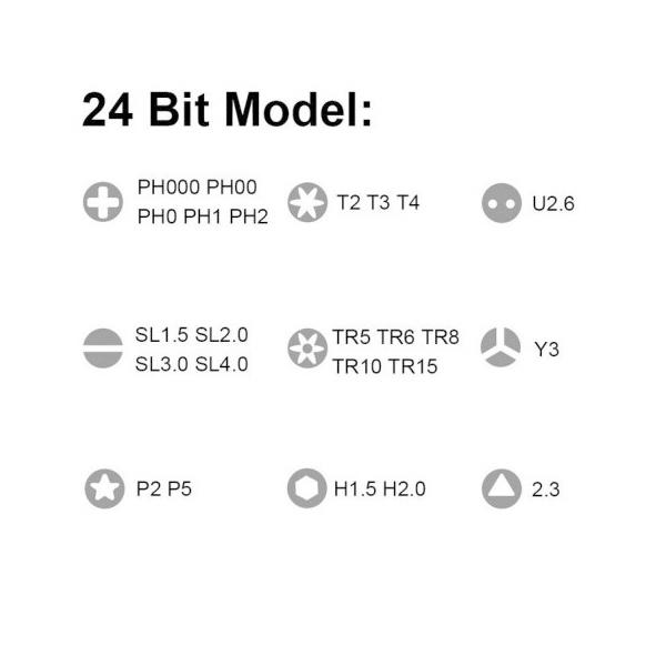 Xiaomi Kit de Precisin Mi X 24 cabezales  Destornillador