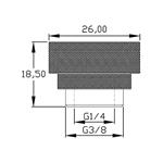 XSPC G14 cromado  Tapón